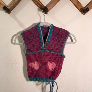Other - Vintage homemade crochet vest pullover sweater